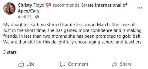 Kids3, Karate International Of Apex/Cary NC